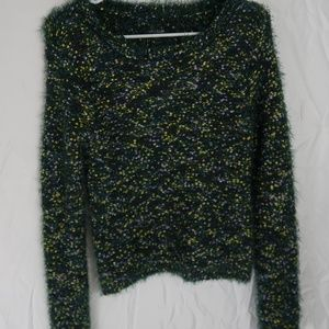 Wild Fable Green Furry Sweater (M)